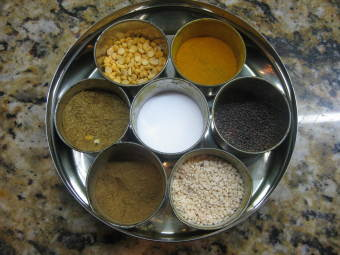 Indian spices really easy in the spice box