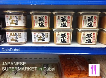 Fresh miso paste available at Japanese Supermarkets in Dubai