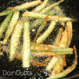 Crispy fried okra ready in 3 minutes