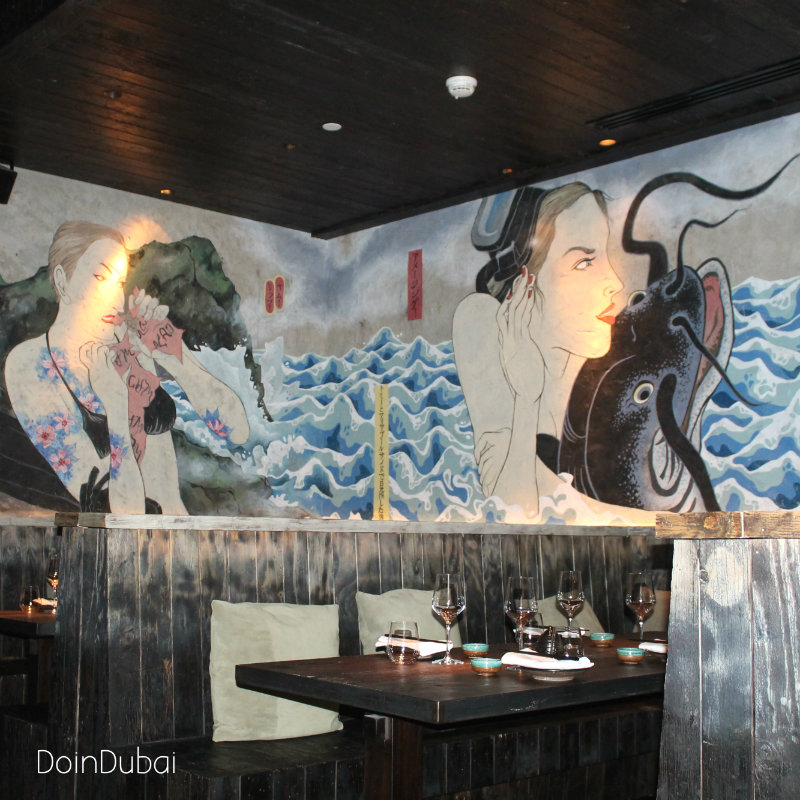 Ramusake DoinDubai Mural Japanese ladies booth