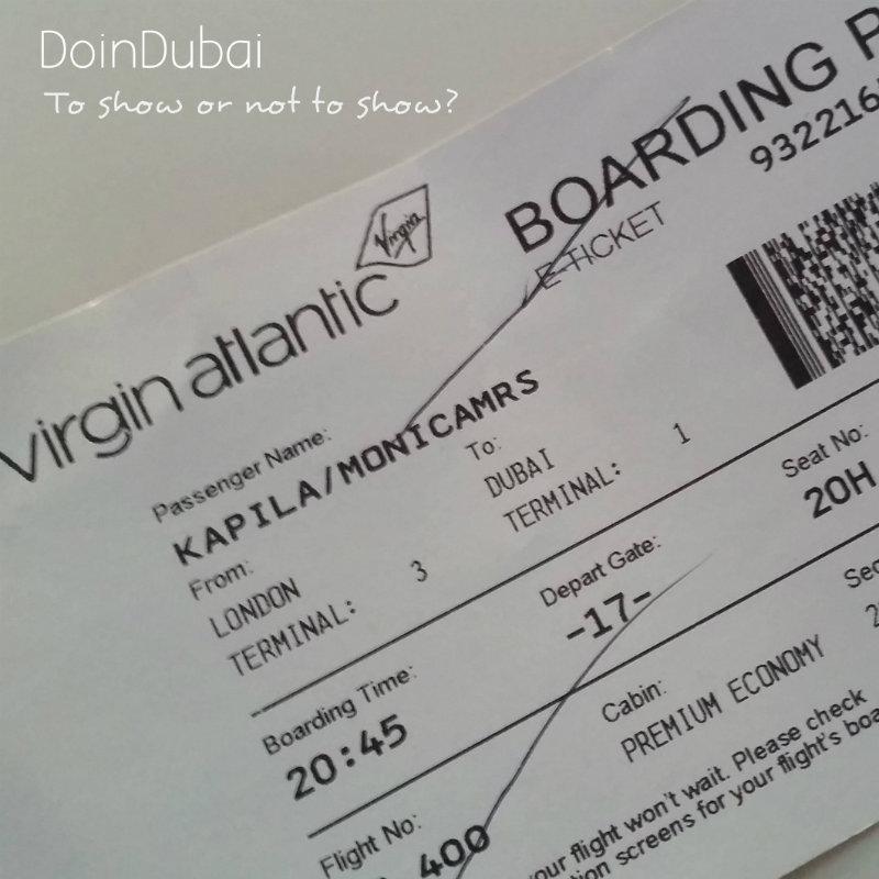 Boarding Pass DoinDubai