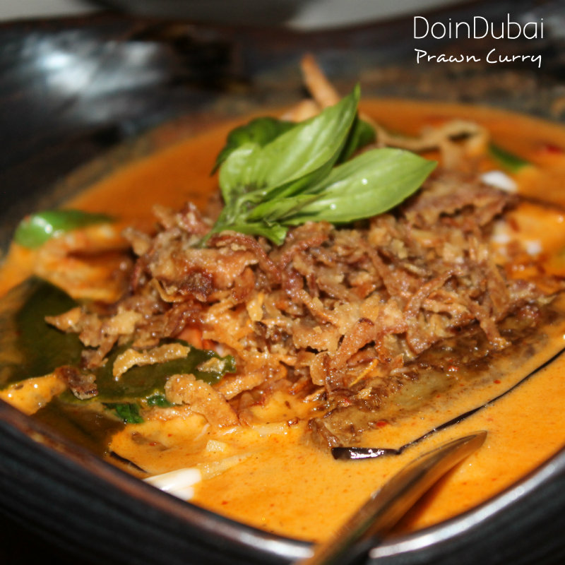 Red Prawn Curry at Soi Dusit Hotel