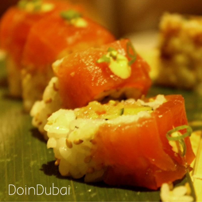 Four Seasons Sea Fu Close up Spicy Tuna roll DID