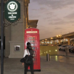 Rose and Crown Dubai DoinDubai phone box