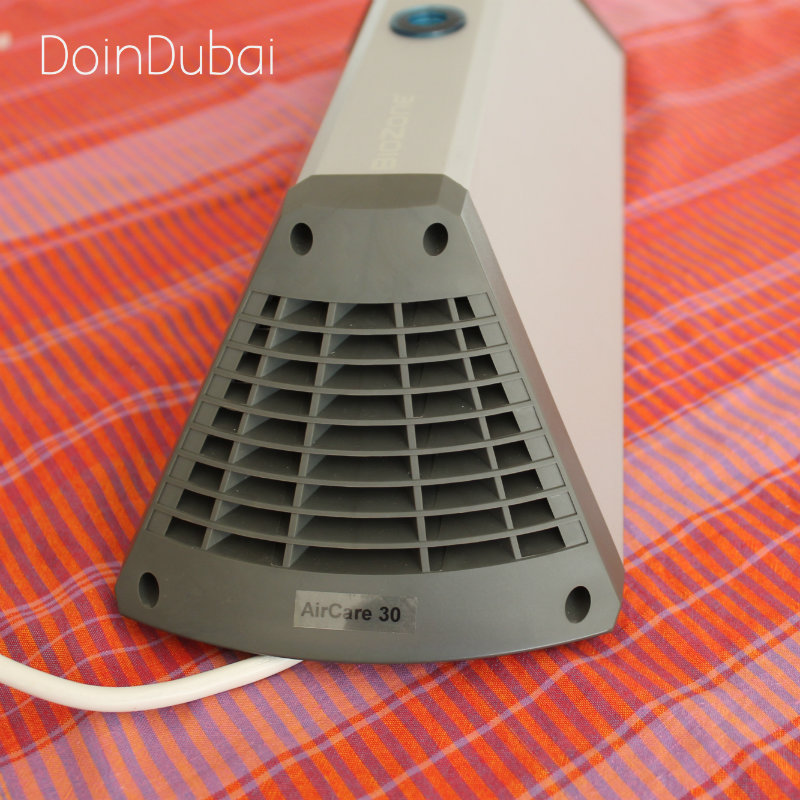 air purifier side view