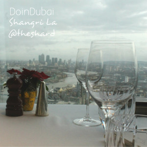 London Christmas DoinDubai Shard views from Ting