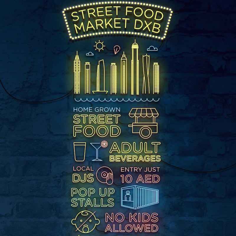 Street Food Market in Dubai DoinDubai Poster