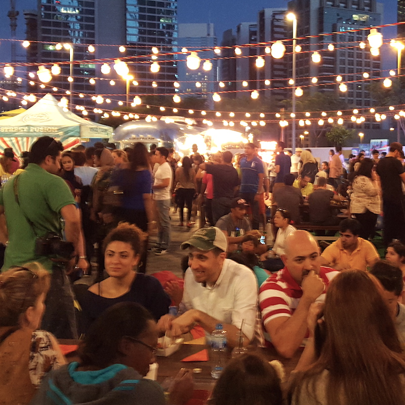 Street Food Market in Dubai DoinDubai People relaxing