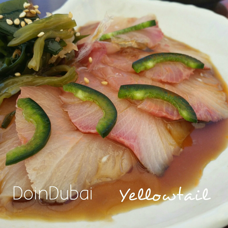 Origami sushi DoinDubai Yellow tail 800