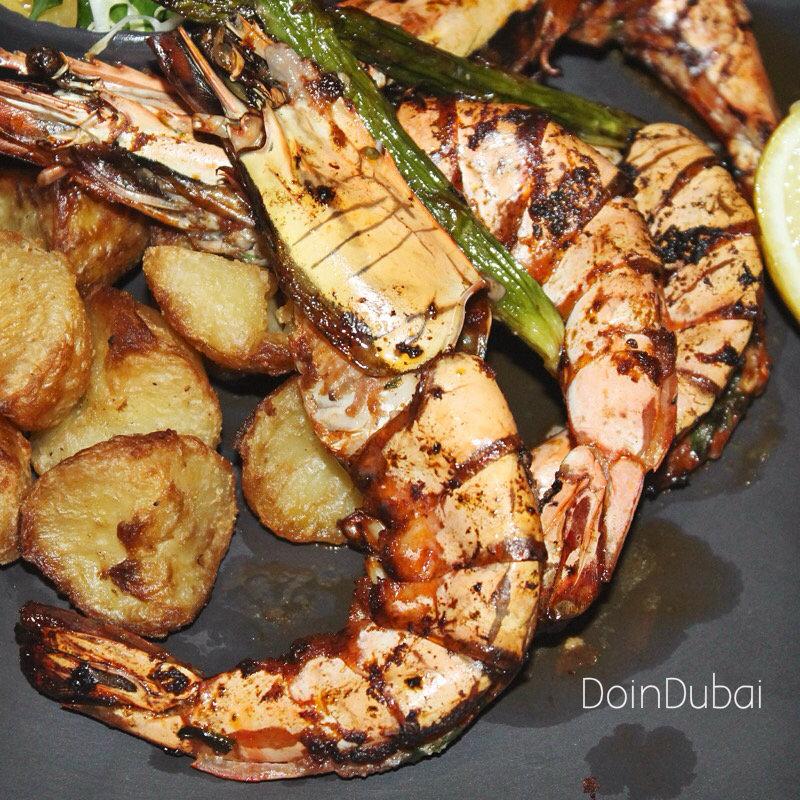 JB's Gastropub DoinDubai Grilled Prawns big ticket item Pub Grub
