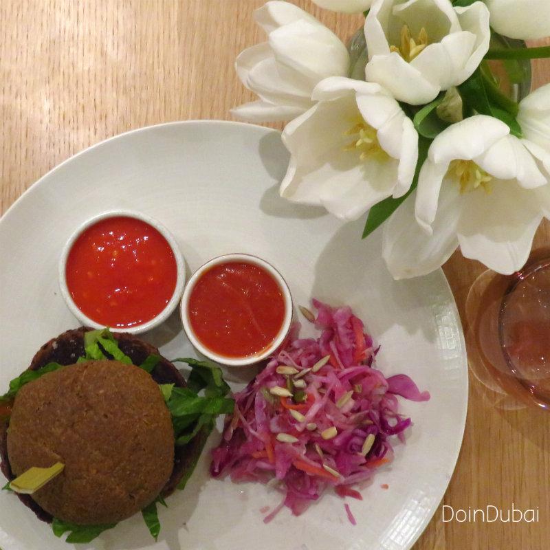 London's best Cafes Feta and bean burger DoinDubai