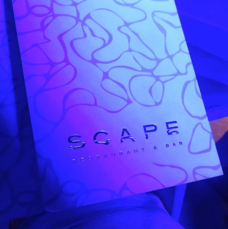 Scape Dubai DoinDubai menu