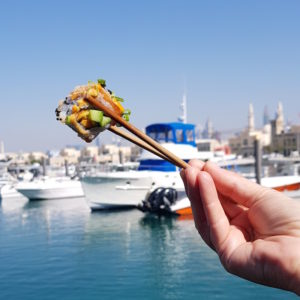 Outdoor Dubai Dining DoinDubai 3 Fils Sushi by the sea