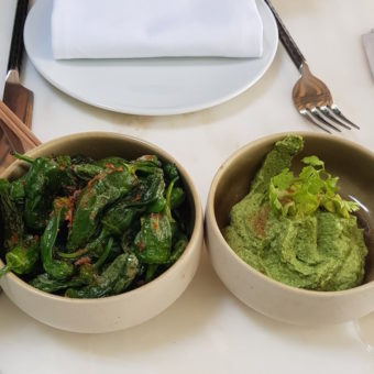Outdoor Dubai Dining DoinDubai BB Social Green Hummus Padron Peppers