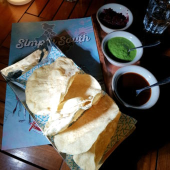 Image ofBest New Places to Eat DoinDubai Zafran Simply South Rice papads