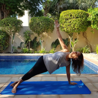 Yoga in Dubai DoinDubai Side Plank Monica Kapila