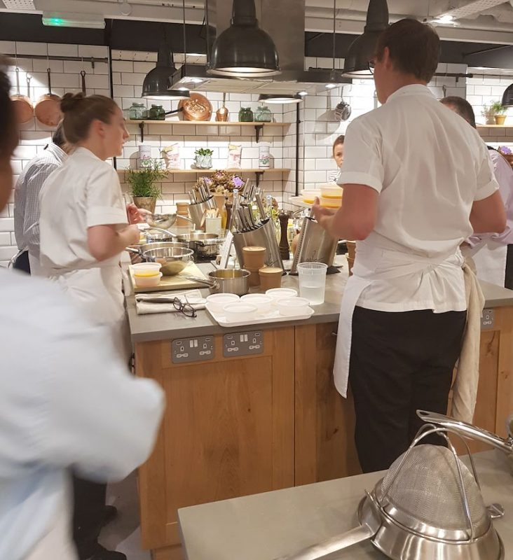 Cooking Lessons in London Sauce at the Langham DoinDubai Kitchen banter