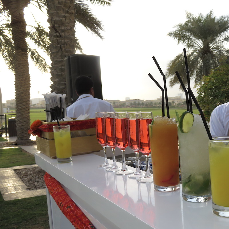 Dubai wedding DoinDubai drinks