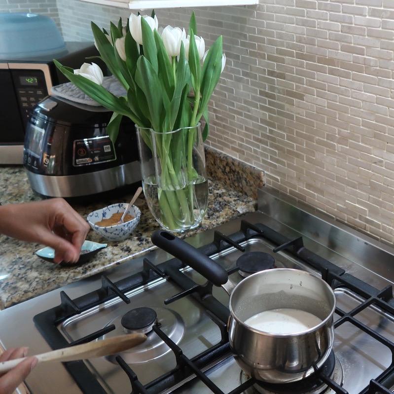 Paleo Porridge DoinDubai adding chia seeds