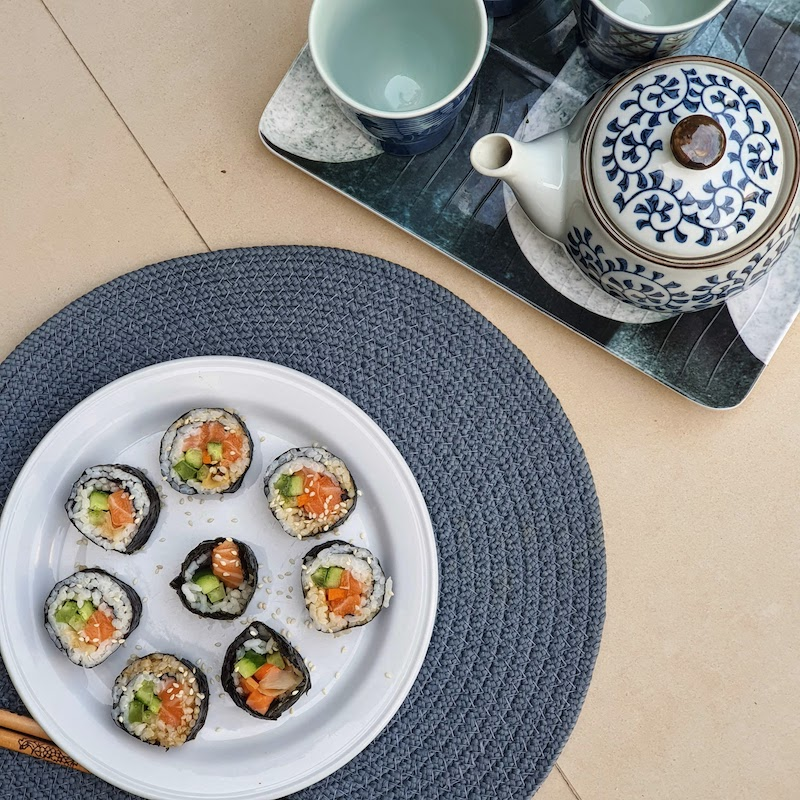 Snacks for Staying at Home DoinDubai sushi and Chinese Tea