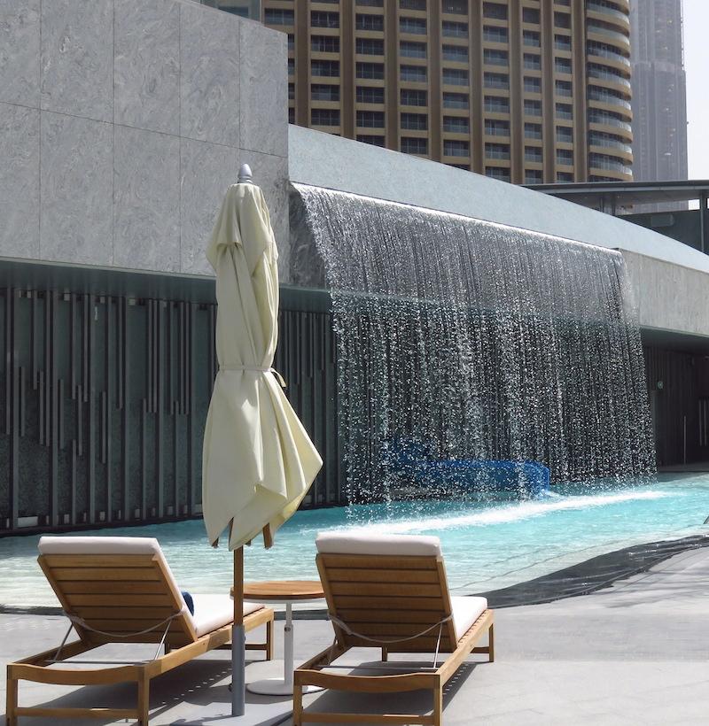 The Address hotel Dubai Ground floor pool