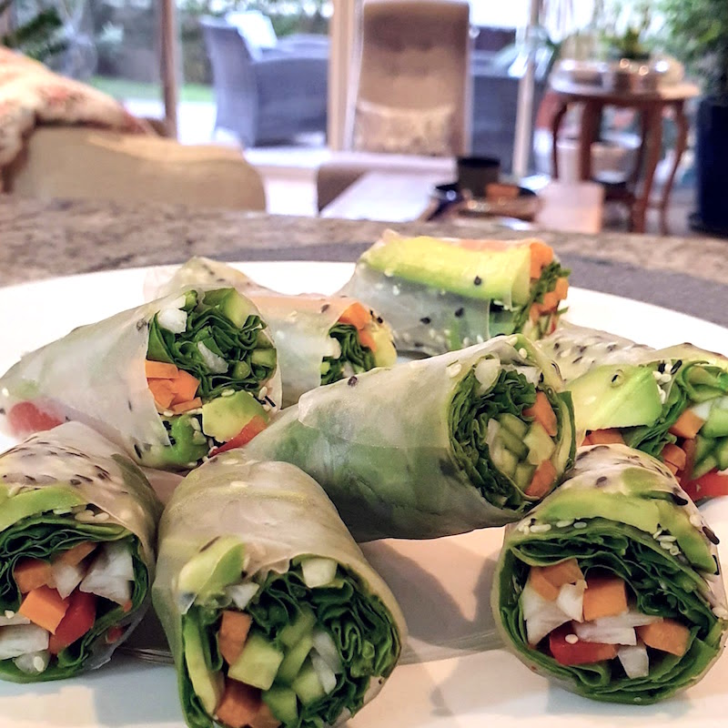 Healthy Spring Rolls feature pic