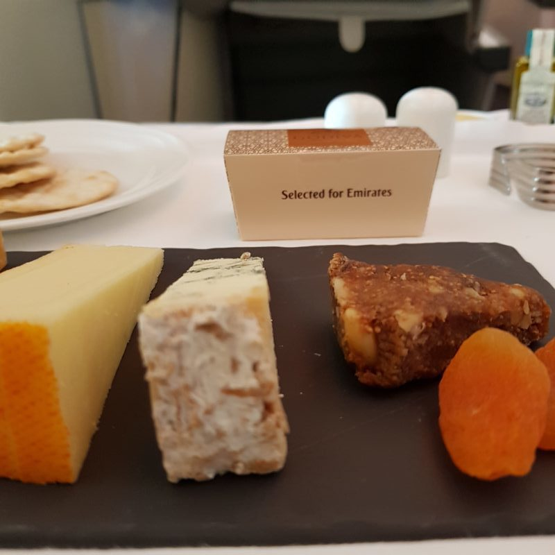 emirates business class cheese board
