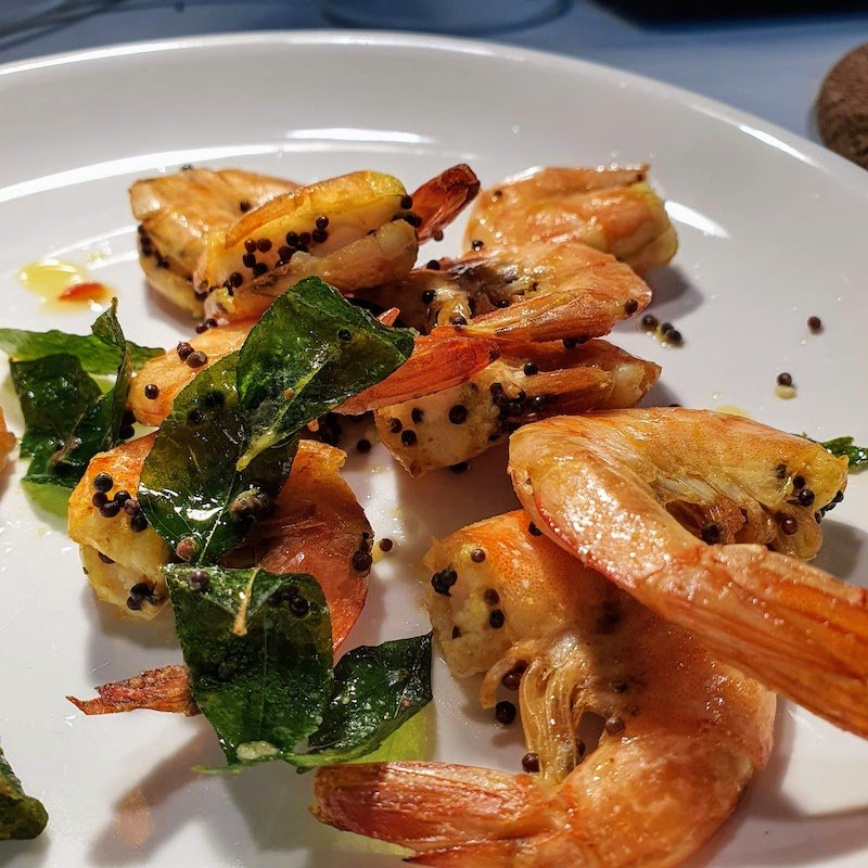 AIR FRYER SPICY PRAWNS DOINDUBAI FINISHED DISH