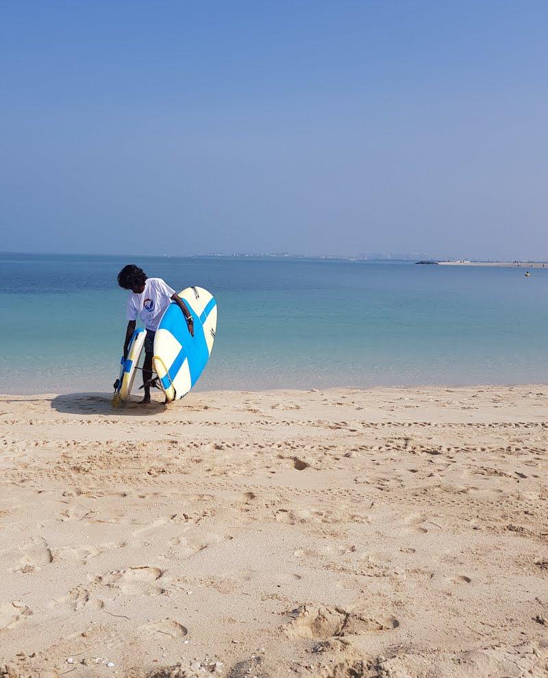STAND UP PADDLE BOARDING IN DUBAI DOINDUBAI KITE N SURF STAFF