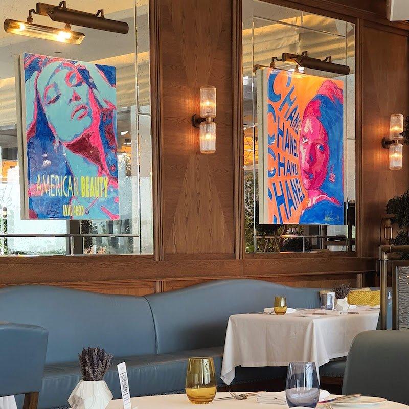 Four Seasons Hotel DIFC Monica Kapila Mina Brasserie art work